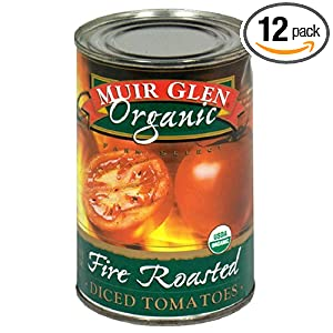 review Muir Glen Organic Diced Tomatoes, Fire Roasted, 14.5-Ounce Cans (Pack of 12)