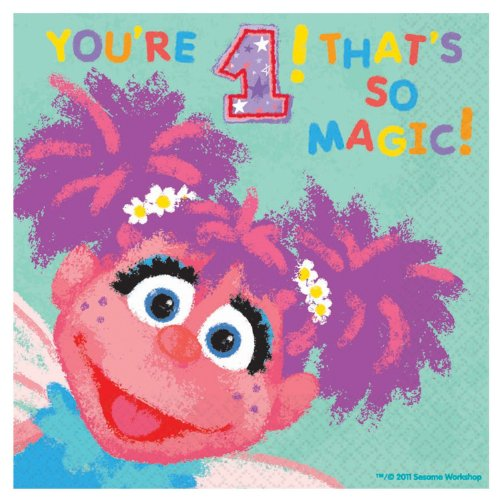 Abby Cadabby 1st Birthday Large Napkins (36ct)