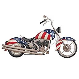 Metal Patriotic Motorcycle Wall Decor