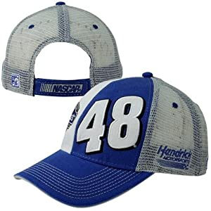The Game Jimmie Johnson Dual View Name Sponsor Adjustable Hat - Royal Blue White Gray by The Game
