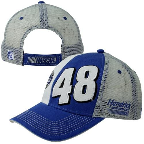 The Game Jimmie Johnson Dual View Name Sponsor Adjustable Hat - Royal Blue White Gray