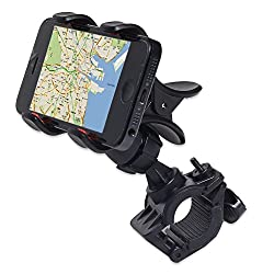 PH Artistic Bike Bicycle Motorcycle Mobile Cell Phone Holder Mount Bracket For Iphones, Ipods, Samsung Galaxy Phones, LG, Nokia, Htc, Blackberry Smartphones And Other Mobile Phones - Black