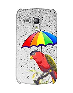 Mobifry Back case cover for Samsung I8200 Galaxy S III mini Mobile ( Printed design)