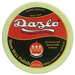 Dazlo Shoe Wax Polish Black - Pack of 4 X 100g