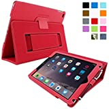 iPad Air 2 Case, Snugg™ - Smart Cover with Flip Stand & Lifetime Guarantee (Red Leather) for Apple iPad Air 2 (2014)