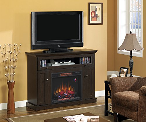 Windsor Oak Espresso Media Electric Fireplace Mantel 23DE9047-PE91, MANTEL ONLY