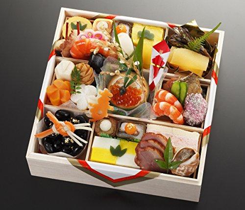 京都の料亭 濱登久 一段重 全28品 盛り付け済み 冷蔵 生おせち お届け日:12月31日