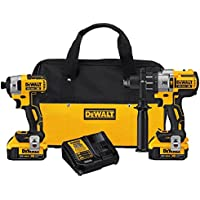DeWALT DCK299M2 20-Volt Max XR Drill and Impact Driver Combo (Black) - Reconditioned