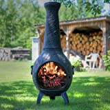 The Blue Rooster Dragonfly Chiminea in Charcoal