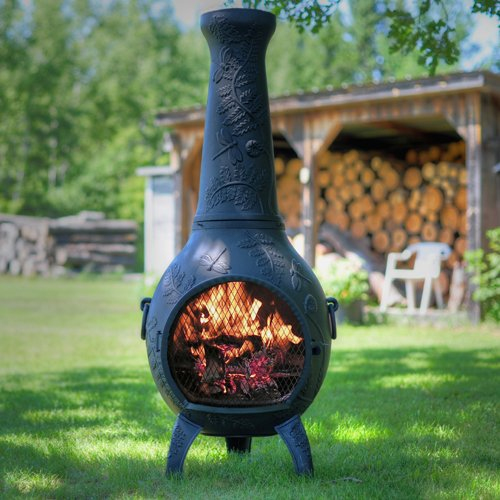 The-Blue-Rooster-Dragonfly-Chiminea-in-Charcoal