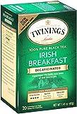 Twinings Decaf Black Tea, Irish Breakfast, 20 Count Bagged Tea (6 Pack)