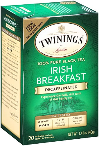 Twinings Decaf Black Tea, Irish Breakfast, 20 Count Bagged Tea (6 Pack) (Coffee Black Tea compare prices)