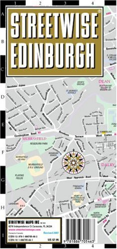 Streetwise Edinburgh Map - Laminated City Center Street Map of Edinburgh, Scotland - Folding pocket size travel map