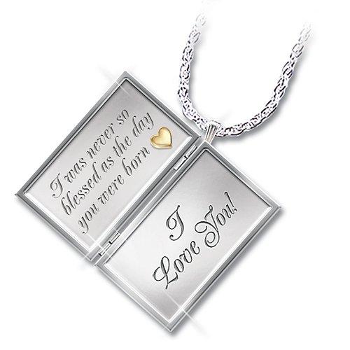 Dear Granddaughter Letter of Love Sterling Silver Locket Necklace