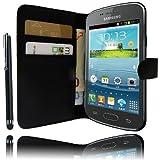 Etui Housse Luxe Portefeuille pour Samsung Galaxy Trend S7560 et S7580 Trend Plus + STYLET et 3 FILM OFFERT !