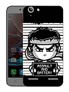 "Funny Fighter Cartoon Printed Designer Mobile Back Cover For ""Lenovo Vibe K5 - K5 Plus"" By Humor Gang (3D, Matte Finish, Premium Quality, Protective Snap On Slim Hard Phone Case, Multi Color)"