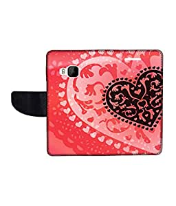 KolorEdge Printed Flip Cover For HTC One M9 Multicolor - (1478-50KeMLogo11476HTCM9)