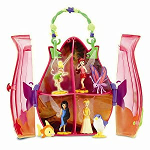 Click to buy Playmates Toys Disney Fairies Tiny Tink & Friends Flower Purse Collect & Play Case from Amazon!