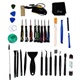 Dxg 34 in 1 Universal Screen Removal Professional Opening Repair Tool Kit Pry Tools Kit and Screwdriver Set for iPhone, Samsung, Huawei, Motorola, Sony, iPad, Tablets and Laptop