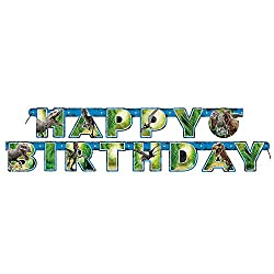 6ft Jurassic World Birthday Banner from Unique Party Favors