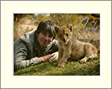 PROFESSOR BRIAN COX WITH LION WONDERS OF LIFE SIGNED AUTOGRAPH PHOTO PRINT IN MOUNT