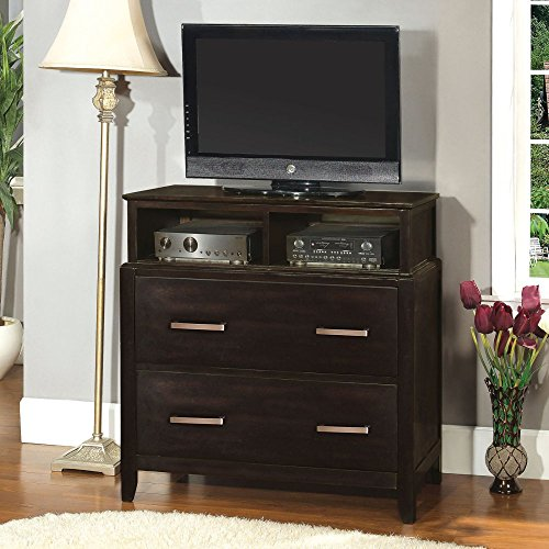 Furniture Of America Olivia Collection 2 Drawer Media Chest - Espresso, Brown, Wood front-756161