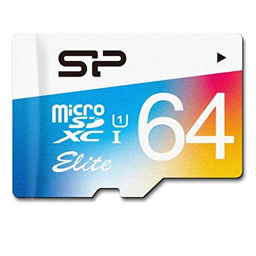 シリコンパワー microSDXCカード アダプタ付 64GB  UHS-1対応 【最大読込85MB/s】 防水 防塵 耐X線 永久保証 Eliteシリーズ SP064GBSTXBU1V20NE