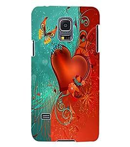 ColourCraft Love Heart Design Back Case Cover for SAMSUNG GALAXY S5 MINI