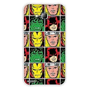 Marvel Civil War PBMARCOMSAMON706 Avenger Faces Back Cover for Samsung Galaxy On7 (Multicolor)