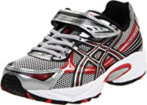 ASICS Pre Galaxy 5 PS Running Shoe (Toddler/Little Kid),Black/Silver/Red,2 M US Little Kid