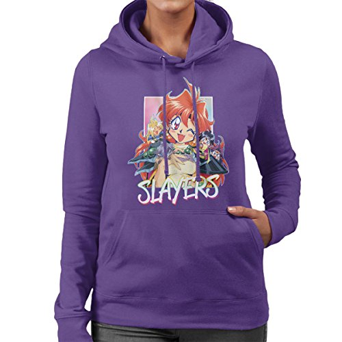 Slayers Lina Inverse Character Collage Women's Hooded Sweatshirt