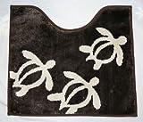ハワイアン雑貨/Green Hawaii マイクロファイバー トイレマット ホヌ 【ハワイ雑貨】【お土産】