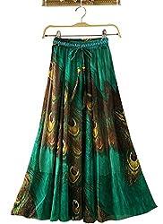 Women's Skirt,white (green)