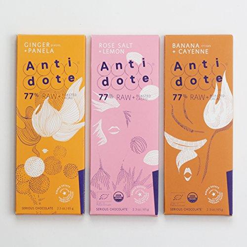 77% Dark Chocolate Set (6 bars) - Ginger+Panela, Banana+Cayenne, Rose Salt+Lemon (Cayenne Chocolate compare prices)