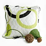 Onitiva [Laiquendi] Quilted Decorative Pillow Cushion Floor Cushion (19.7 by 19.7 inches)