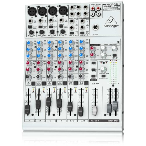 Behringer Ub1204-Pro Eurorack Ultra-Low Noise Design 12-Input 2/2-Bus Mic/Line Mixer With Premium Mic Preamplifiers