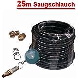 SAUGSCHLAUCH SET für HAUSWASSERWERK KREISELPUMPE JETPUMPE SCHWIMMENDE ENTNAHME Ansaug Set 4 mit 25m Saug -/Druckschlauch...