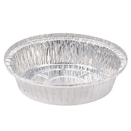 Smart USA 7ALB, 7-Inch Round Aluminum Containers with Clear Plastic Dome Lid, Take Out Catering Foil Pans with Covers (100) (7 Aluminum Pie Pans compare prices)