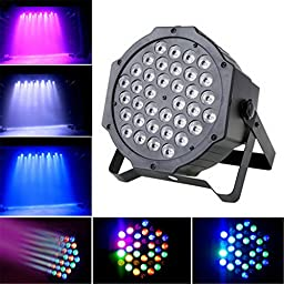 SORCO 1Pcs 363W LED Flat Par Stage Lights Lamp with US Plug for Club Disco KTV Garden Wedding