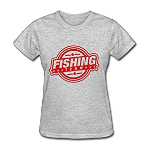 Custom fishing team da1 t shirt gray printed for Fishing team shirts