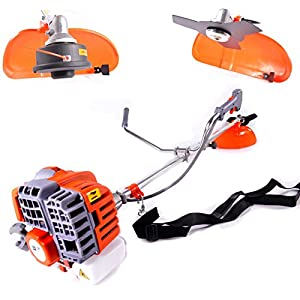 MJ Tools 43cc Easy Start 2 in 1 Petrol Strimmer and Brush Cutter