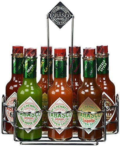 tabasco-chrome-caddy-with-7-family-flavors-by-tabasco-mcilhenny-company