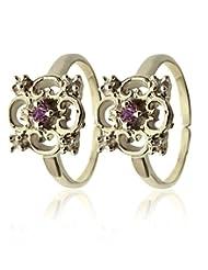 Shree Ji Jewellers White Sterling Silver Toe-Ring For Women SJ30