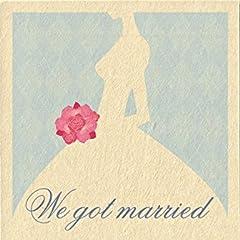 年賀はがき和紙「花嫁のシルエット」板干し5枚