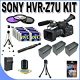 Sony HVR-Z7U HDV Professional Video Camcorder + 3 Extended Life 970L Batteries + Ac/Dc Charger + 3 Piece Multicoated Filter Kit + 10 Dv Tapes + Shock Proof Deluxe Case + Full Size Tripod + Master Works Producing DVD + Accessory Saver Kit & More!!!