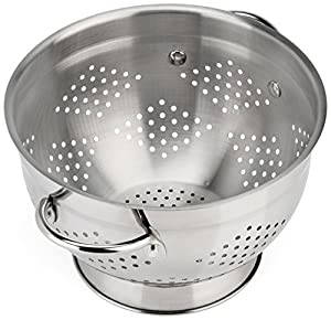 Raishi Classic Stainless Steel Deep Colander, High Grade Quality