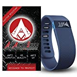 Ace Armor Shield Shatter Resistant (3 PACK) Screen Protectors for the fitbit Charge HR / Military Grade / High Definition / Maximum Screen Coverage / Supreme Touch Sensitivity /Dry or Wet Easy Installation with free lifetime replacement warranty