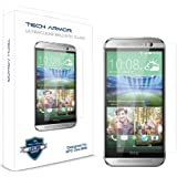 Tech Armor HTC One 2 (M8) Premium Ballistic Glass Screen Protector Protect Your Screen from Scratches and Drops Maximize Your Resale Value 99.99% Clarity and Touchscreen Accuracy