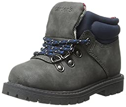 carter\'s Stone Outdoor Boot (Toddler/Little Kid), Grey/Blue, 5 M US Toddler
