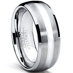 8MM Dome Men's Tungsten Carbide Ring Wedding Band size 6.5